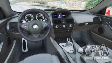 BMW M6 (E63) WideBody v0.1 [Carrillo] pour GTA 5