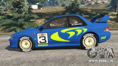 GTA 5 Subaru Impreza WRC 1998 vue latérale gauche