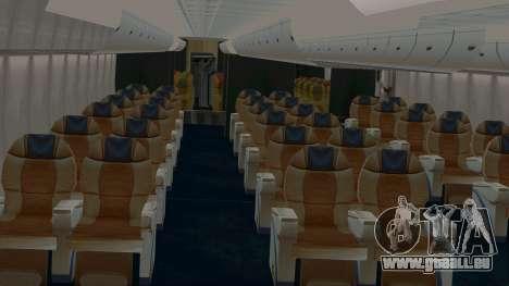 Airbus A380-800 British Overseas Airways Corp. für GTA San Andreas Innenansicht