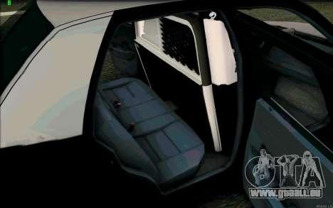 Weathersfield Police Crown Victoria für GTA San Andreas obere Ansicht