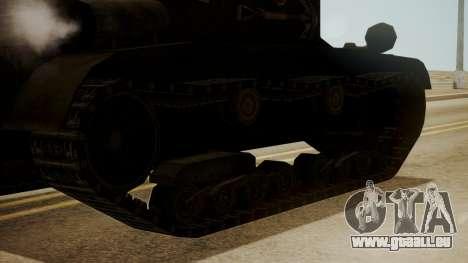 T2 Light Tank pour GTA San Andreas sur la vue arrière gauche