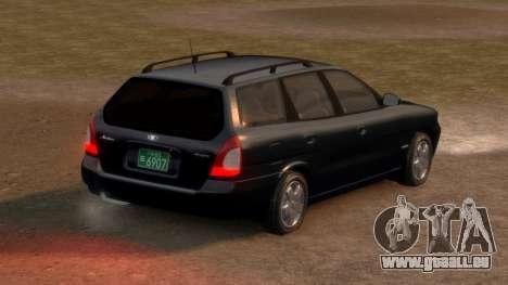 Daewoo Nubira I Spagon 1.8 DOHC 1998 pour GTA 4 Vue arrière de la gauche