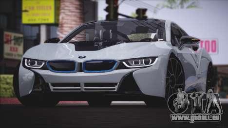 BMW i8 Coupe 2015 pour GTA San Andreas laissé vue