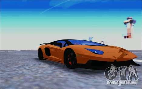 Lamborghini Aventador MV.1 [IVF] pour GTA San Andreas laissé vue