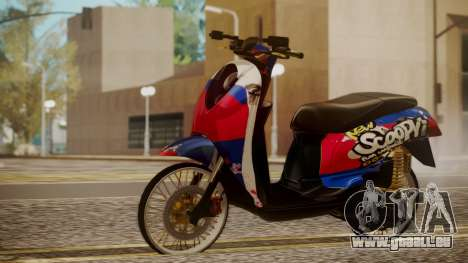 Honda Scoopy New Red and Blue pour GTA San Andreas