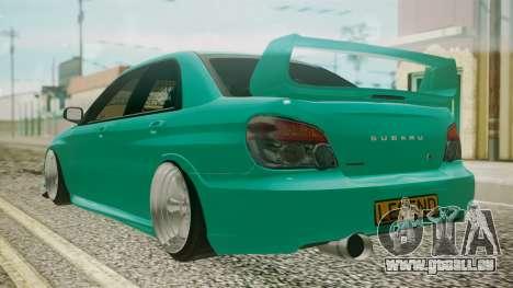 Subaru Impreza 2004 für GTA San Andreas linke Ansicht