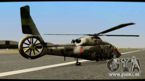 KA 60 l'hirondelle pour GTA San Andreas sur la vue arrière gauche