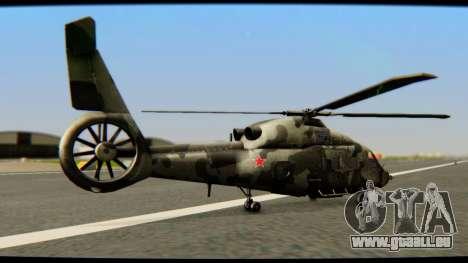 KA 60 Kasatka für GTA San Andreas zurück linke Ansicht