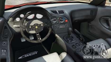 GTA 5 Mazda RX-7 C-West v1.0 arrière droit vue de côté