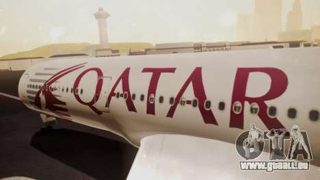Airbus 350-900XWB Qatar Launch Customer für GTA San Andreas rechten Ansicht