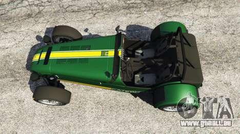 Caterham Super Seven 620R v1.5 [green] pour GTA 5