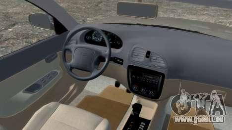 Daewoo Nubira I Spagon 1.8 DOHC 1998 pour GTA 4 Vue arrière