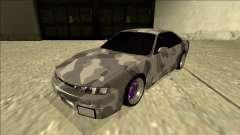 Nissan Silvia S14 Army Drift für GTA San Andreas