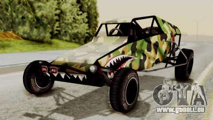Buggy Camo Shark Mouth für GTA San Andreas