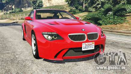 BMW M6 (E63) WideBody v0.1 [red] pour GTA 5