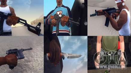 Realistic Weapons Pack für GTA San Andreas
