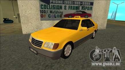 Mercedes-Benz W140 500SE Taxi 1992 pour GTA San Andreas