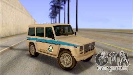 Benefactor Dubsta Jurassic World Décoration pour GTA San Andreas
