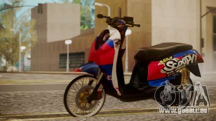 Honda Scoopy New Red and Blue für GTA San Andreas