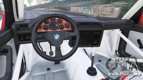 BMW M3 (E30) 1991 v1.2 pour GTA 5