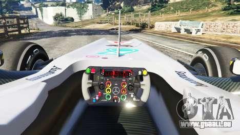 GTA 5 Mercedes-Benz MGP W01 [Michael Schumacher] v1.1 hinten rechts