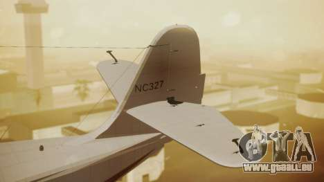 Grumman G-21 Goose NC327 Cutter Goose pour GTA San Andreas sur la vue arrière gauche