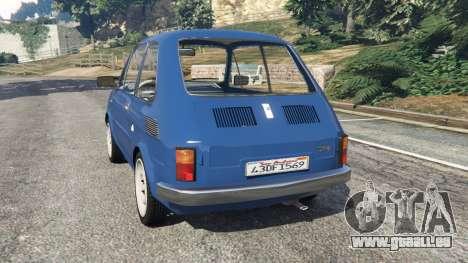 GTA 5 Fiat 126p v1.1 arrière vue latérale gauche