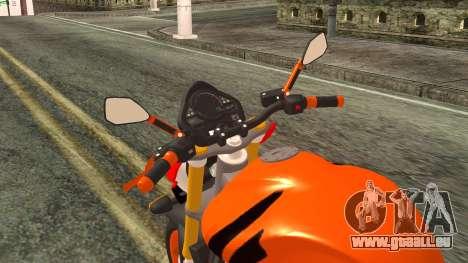 Honda Hornet Repsol 2010 pour GTA San Andreas vue arrière