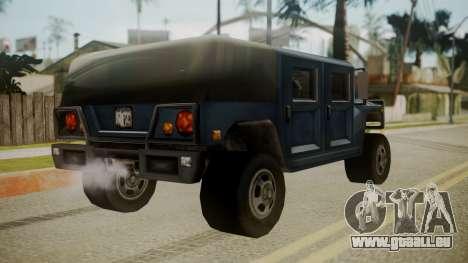 Patriot III pour GTA San Andreas laissé vue
