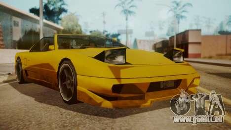 Better Super GT für GTA San Andreas zurück linke Ansicht