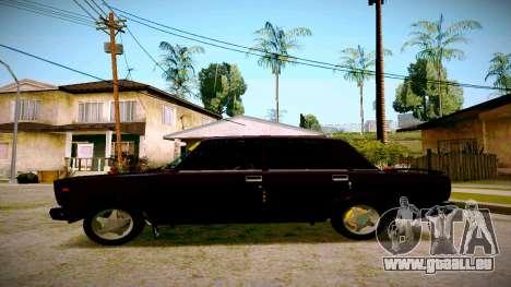 ВАЗ 2107 Licht Tuning für GTA San Andreas linke Ansicht