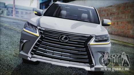 Lexus LX570 2016 pour GTA San Andreas sur la vue arrière gauche