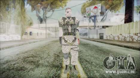 MGSV Phantom Pain Snake Normal Wetwork pour GTA San Andreas deuxième écran