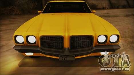 Pontiac Lemans Hardtop Coupe 1971 IVF АПП pour GTA San Andreas vue de côté
