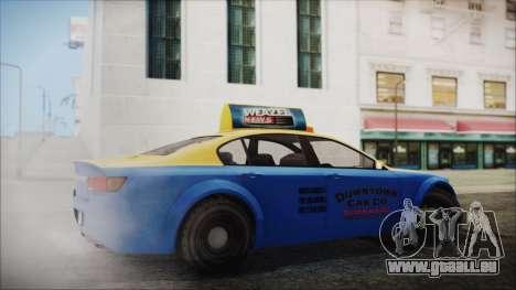 Cheval Fugitive Downtown Cab Co. Taxi für GTA San Andreas linke Ansicht