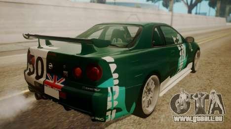 Nissan Skyline R34 FnF 4 v1.1 für GTA San Andreas