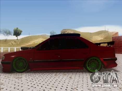 Peugeot Pars Full Sport pour GTA San Andreas sur la vue arrière gauche