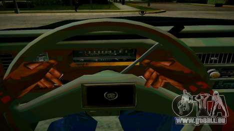 Cadillac Fleetwood Brouhman 1985 pour GTA San Andreas vue intérieure