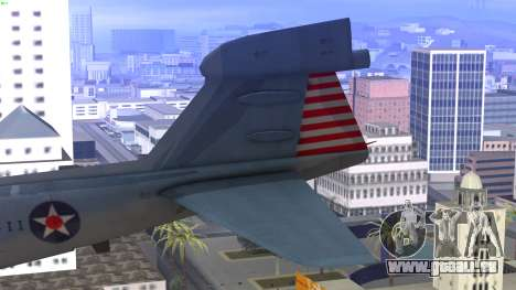 Northrop Grumman EA-6B Prowler VAQ-129 pour GTA San Andreas sur la vue arrière gauche