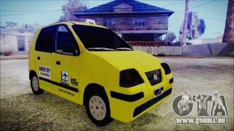 Hyundai Atos Taxi Colombiano für GTA San Andreas zurück linke Ansicht
