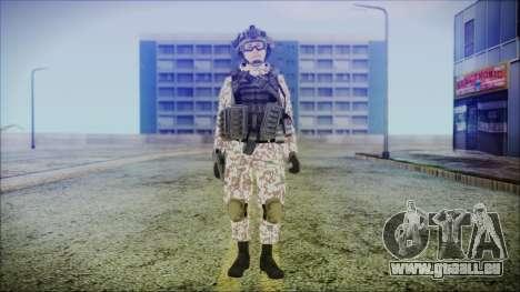 Bundeswehr Desert v2 pour GTA San Andreas deuxième écran