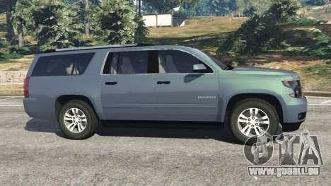 GTA 5 Chevrolet Suburban 2015 [unlocked] vue latérale gauche