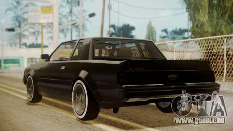 GTA 5 Faction Stock DLC LowRider pour GTA San Andreas sur la vue arrière gauche