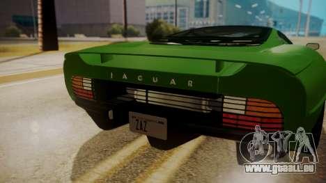 Jaguar XJ220 1992 FIV АПП pour GTA San Andreas vue de droite
