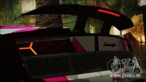 Lamborghini Gallardo LP570-4 2015 Miku Racing 4K für GTA San Andreas Seitenansicht