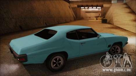 Pontiac Lemans Hardtop Coupe 1971 pour GTA San Andreas laissé vue