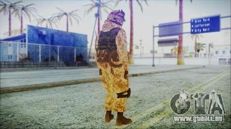 MW2 Russian Airborne Troop Desert Camo v1 pour GTA San Andreas troisième écran