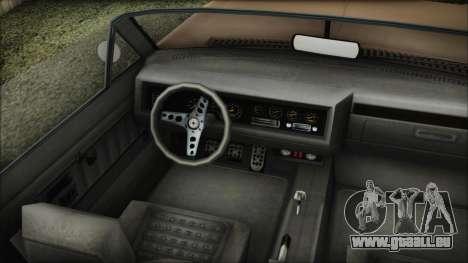 GTA 5 Albany Buccaneer Bobble Version IVF pour GTA San Andreas sur la vue arrière gauche