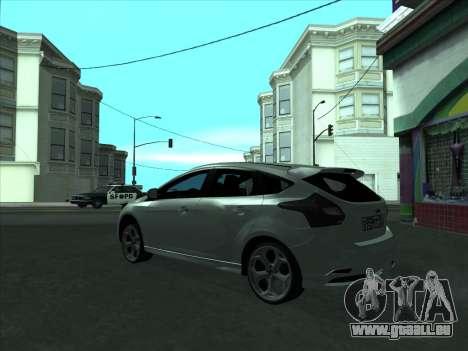 Ford Focus ST à fanons pour GTA San Andreas vue de droite