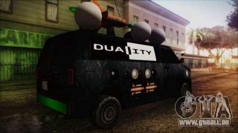 Duality Van - Furgoneta Duality pour GTA San Andreas laissé vue
